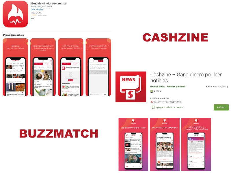 Cashzine y BuzzMatch apps que pagan por leer noticias {2020}