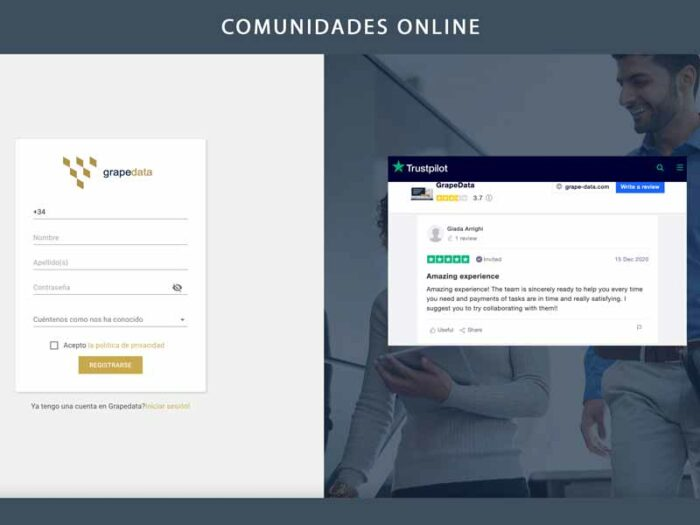comunidades online grapedata