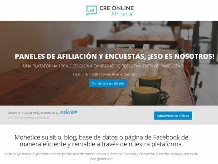 plataformas afiliacon creonline