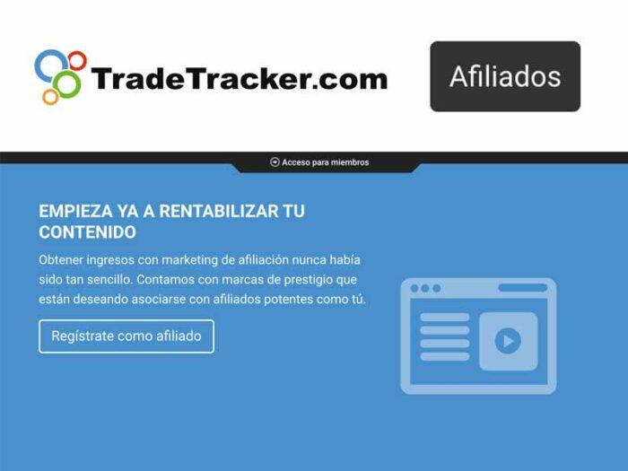 plataformas afiliación tradetracker